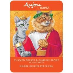 RAWZ Aujou Chicken Breast & Pumpkin Wet Cat Food, 2.46-oz, Case of 8 Pouches.