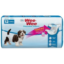 Wee-Wee Disposable Doggie Diapers, Extra Small, 12 Count. SKU 4566397230