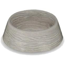TarHong French Oak Grey Melamine Pet Bowl, Medium