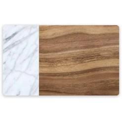 TarHong Acacia Wood & Carraca Marble Placemat