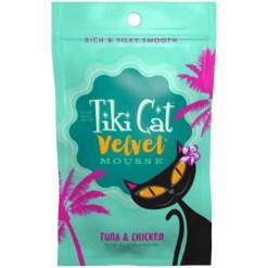 9380448012 Tiki Cat Velvet Mousse Tuna & Chicken Grain-Free Wet Cat Food, 2.8-oz pouch