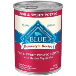 Blue Buffalo Blue Homestyle Recipe Fish and Sweet Potato Dinner with Vegetables Wet Dog Food, 12.5-oz SKU 5961000095