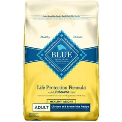 Blue Buffalo Life Protection Formula Healthy Weight Adult Chicken & Brown Rice Recipe Dry Dog Food, 15-lb SKU 5961000004