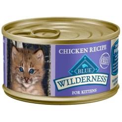 Blue Buffalo Wilderness Kitten Chicken Grain-Free Canned Cat Food SKU 5961000620