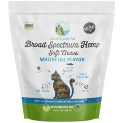 Green Coast Pet Whitefish Flavor Hemp + SuperBlend Soft Chews for Cats, 30 Count SKU 6912100047