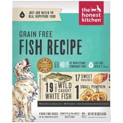 The Honest Kitchen Fish Recipe Grain-Free Dehydrated Dog Food, 10-lb Box, Makes 40-lb of Food SKU 8341300190