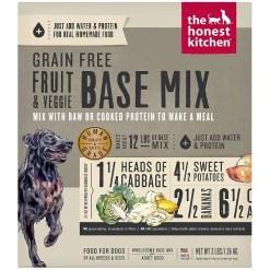 The Honest Kitchen Fruit & Veggie Grain-Free Dehydrated Dog Base Mix, 3-lb Box, Makes 12-lb of Food SKU 8341300097
