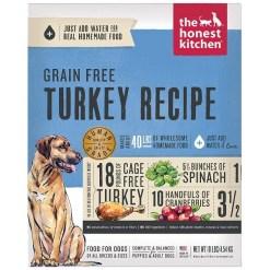 The Honest Kitchen Turkey Recipe Grain-Free Dehydrated Dog Food, 10-lb Box, Makes 40-lb of Food SKU 8341300010