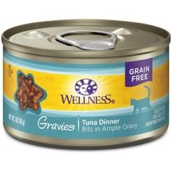 Wellness Natural Grain Free Gravies Tuna Dinner Canned Cat Food, 3-oz SKU 7634402754