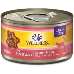 Wellness Natural Gravies Salmon Entree Grain-Free Canned Cat Food, 3-oz SKU 7634402756