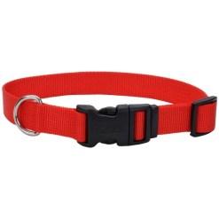 Coastal Adjustable Dog Collar with Plastic Buckle, Red, 5 8 X 14 in SKU 7648404601