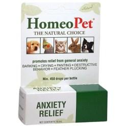 HomeoPet Anxiety Relief Pet Supplement, 15-mL SKU 0495914720