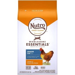 Nutro Wholesome Essentials Chicken & Brown Rice Recipe Senior Dry Cat Food, 3-lb SKU 7910511747