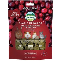 Oxbow Simple Rewards Oven Baked with Cranberry Small Animal Treats, 3-oz SKU 4484596022