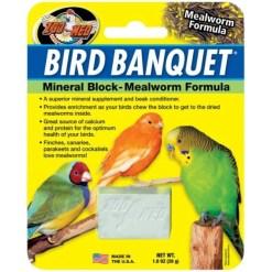 Zoo Med Bird Banquet Mealworm Formula Mineral Block Supplement, 1-block SKU 9761211830