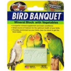 Zoo Med Bird Banquet Vegetable Formula Mineral Block Supplement, 1-oz SKU 9761211820