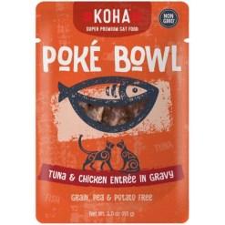 Koha Poké Bowl Tuna & Chicken Entrée in Gravy for Cats, 3-oz Pouch SKU 1104802254