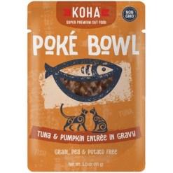 Koha Poké Bowl Tuna & Pumpkin Entrée in Gravy for Cats, 3-oz Pouch SKU 1104802251