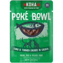 Koha Poké Bowl Tuna & Turkey Entrée in Gravy for Cats, 3-oz Pouch SKU 1104802256