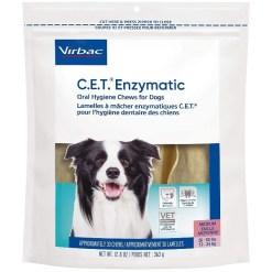 Virbac C.E.T. Enzymatic Oral Hygiene Dental Dog Chews, Medium, 30 Count SKU 1451402089