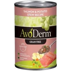 AvoDerm Natural Grain-Free Salmon & Potato Stew Recipe Canned Dog Food, 12.5-oz SKU 5290702073