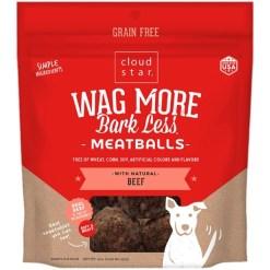 Cloud Star Wag More Bark Less Beef Recipe Meatballs Grain-Free Dog Treats, 14-oz Bag SKU 9380419118