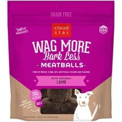 Cloud Star Wag More Bark Less Lamb Recipe Meatballs Grain-Free Dog Treats, 14-oz Bag SKU 9380419119