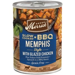 Merrick Grain Free Slow-Cooked BBQ Memphis Style with Glazed Chicken Wet Dog Food, 12.7-oz SKU 2280828403