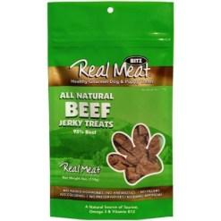 The Real Meat Company Beef Jerky Dog Treats, 4-oz SKU 8287780027