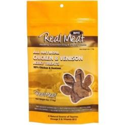 The Real Meat Company Chicken Venison Jerky Dog Treats, 4-oz SKU 8287780022