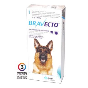 Petstore Kenya Nairobi Bravecto Dog Flea Tick Chew Fluaraner 20kg 40kg (c)