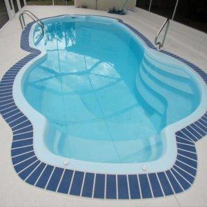 Millennium 12' x 25' Pettit Fiberglass Pool with acrylic deck