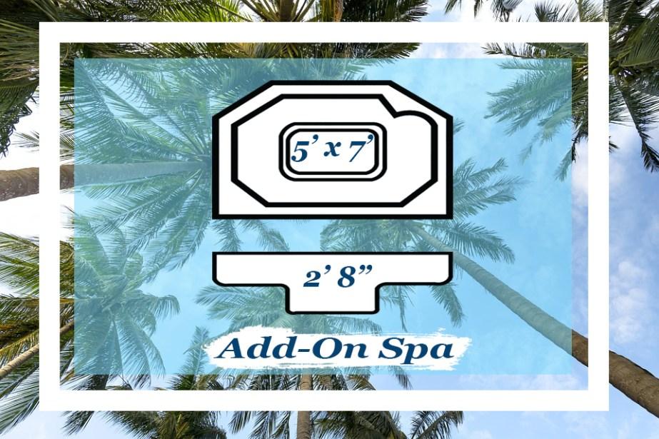 The 5' x 7' Add-on Spa by Pettit Fiberglass Pools
