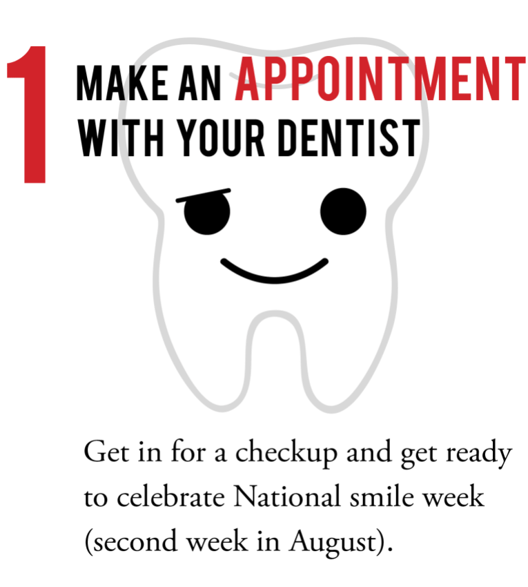 1 Make an appointment with your dentist tooth