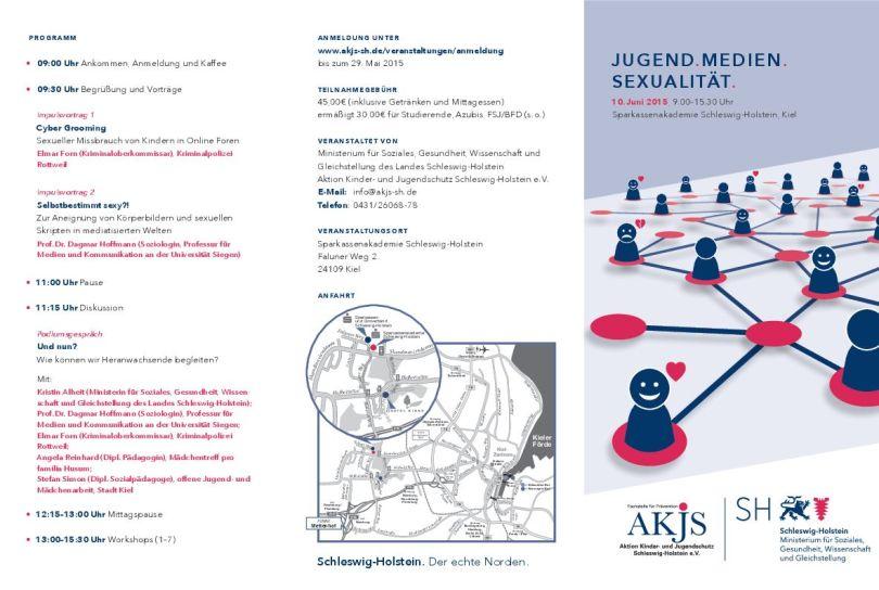 Fachtag JUGEND.MEDIEN. SEXUALITÄT. 10. Juni 2015, 9.00–15.30 Uhr Sparkassenakademie Schleswig-Holstein, Kiel