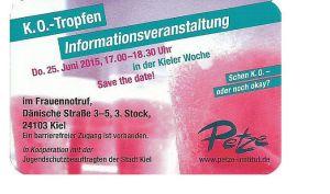 Schon K.o. oder alles okay? Informationsveranstaltung in der Kieler Woche