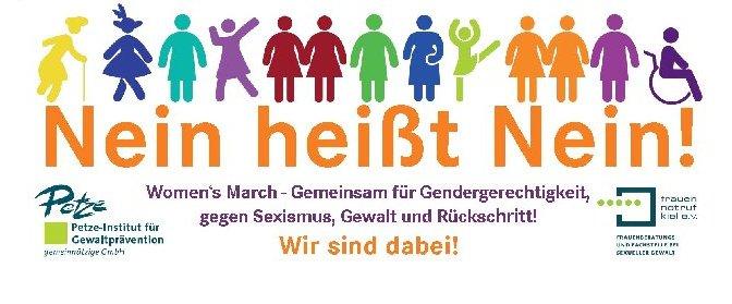Nein heißt Nein! Women's March – Wir sind dabei!