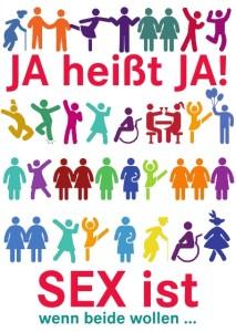 Internationaler Frauentag: JA heißt JA! SEX ist wenn beide wollen ... alles andere ist Gewalt.