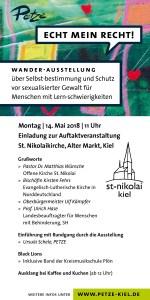 Einladung zur Auftaktveranstaltung St. Nikolaikirche, Alter Markt, Kiel