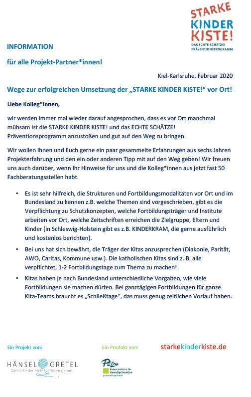Abbildung: Starke Kinder Kiste - FAQ - Fachberatungsstellen, Stand: März 2020