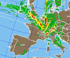Des cartes permettent de connaître les zones turbulences en Europe