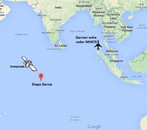 Si le MH370 avait visé Diego Garcia, il se serait également rapproché du satellite Inmarsat, et la longueur d'onde des pings aurait été raccourcie.