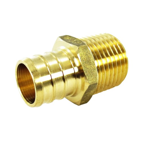 "3//4/"" PEX x 3//4/"" Male NPT thread Adapter LEAD FREE Brass Crimp Fitting"