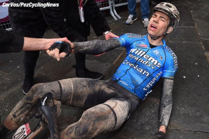 Siena - 이탈리아 - 사이클링 - Cyclisme - Radsport - Wielrennen - Wout Van Aert (BEL - Verandas Willems - Crelan) 2018 년 시에나에서 시에나로 Strade Bianche 동안 묘사 184 km - 03/03/2018 - photo LB / RB / Cor Vos © 2018