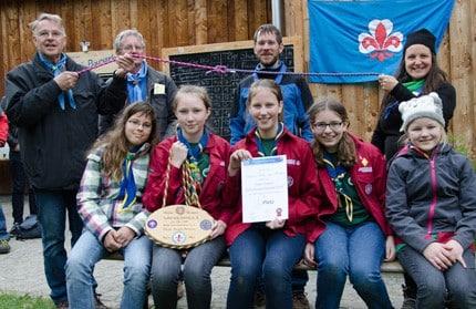 Die Siegerpatrulle von 2016 Schwarze Raben aus Absdorf