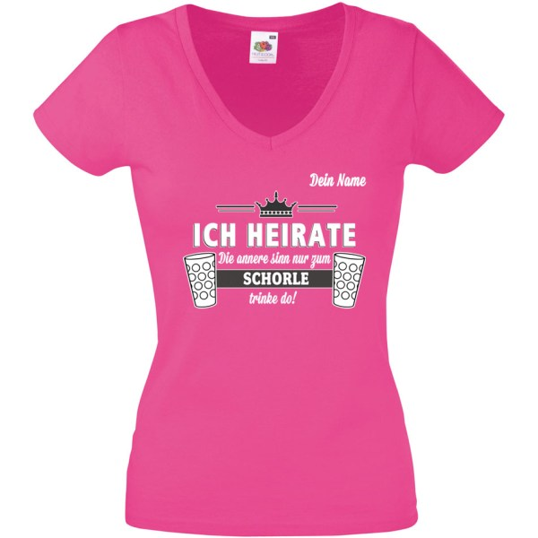 PFALZFANS Pfälzer Schorle-Weinfest-T-Shirt Junggesellenabschied Junggesellinnenabschied Hochzeit JGA