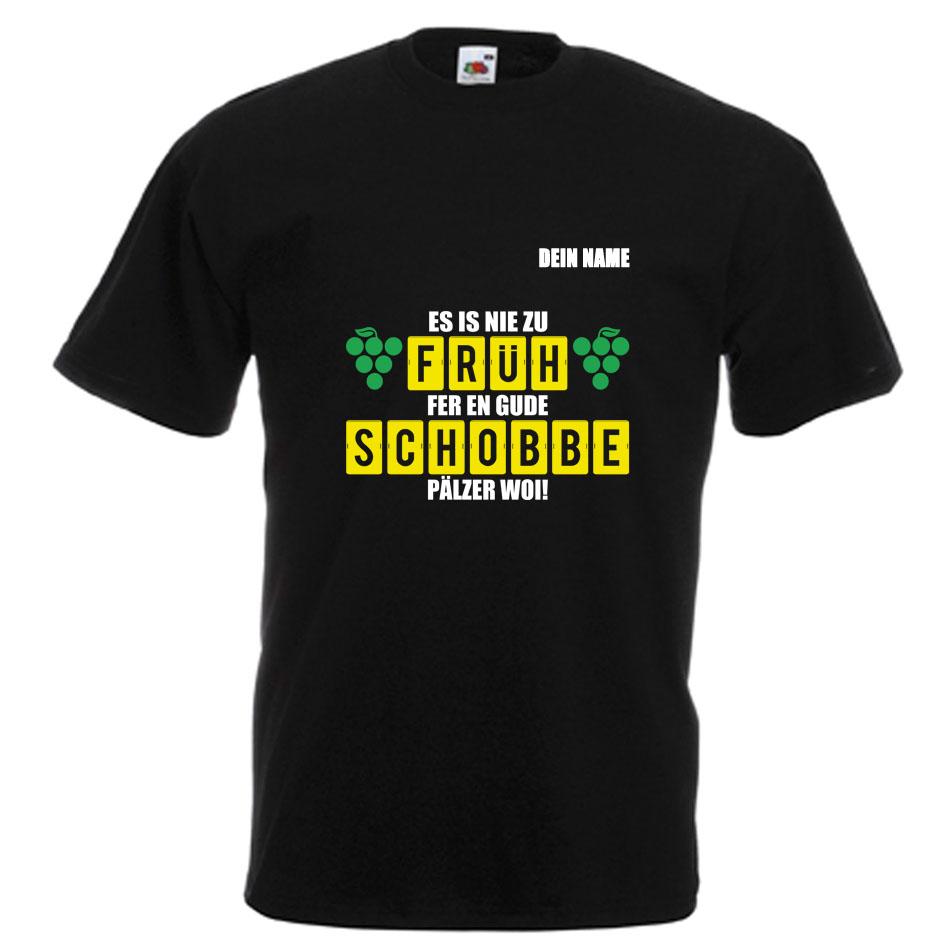 PFALZFANS Pfälzer Schorle-Weinfest-T-Shirt FRÜHSCHOBBE Literarischer Frühschoppen