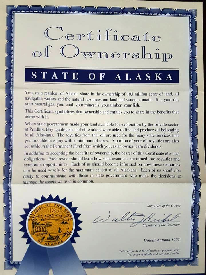 You Own Alaska   Permanent Fund Defenders
