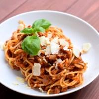 Spaghetti al ragú- eine klassisch italienische Bolognese