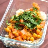 Kichererbsencurry mit Karotten